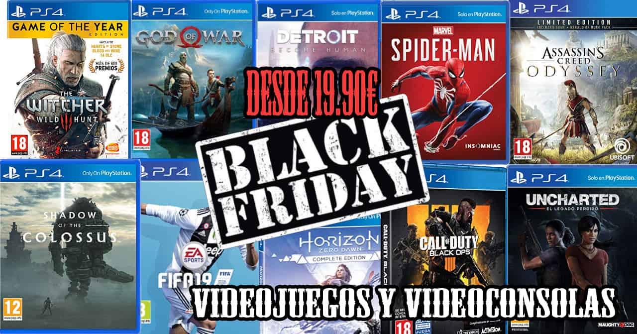 black friday videojuegos y videoconsolas ofertas