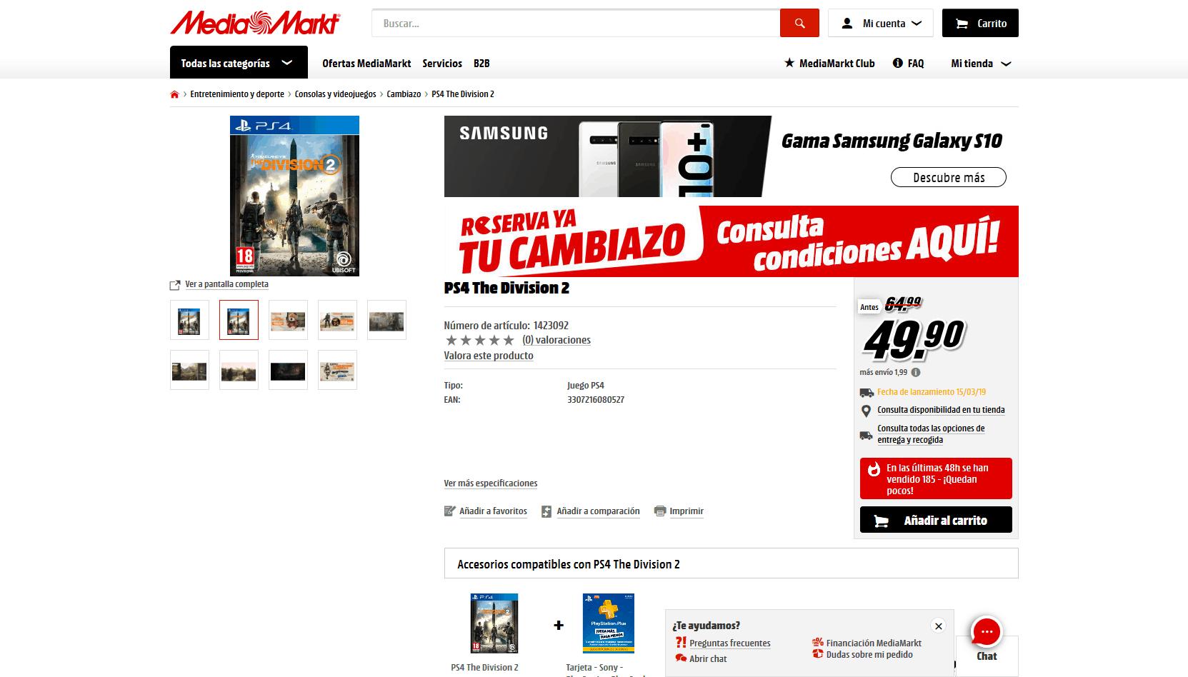 Cambiazo Media Markt en the Division 2