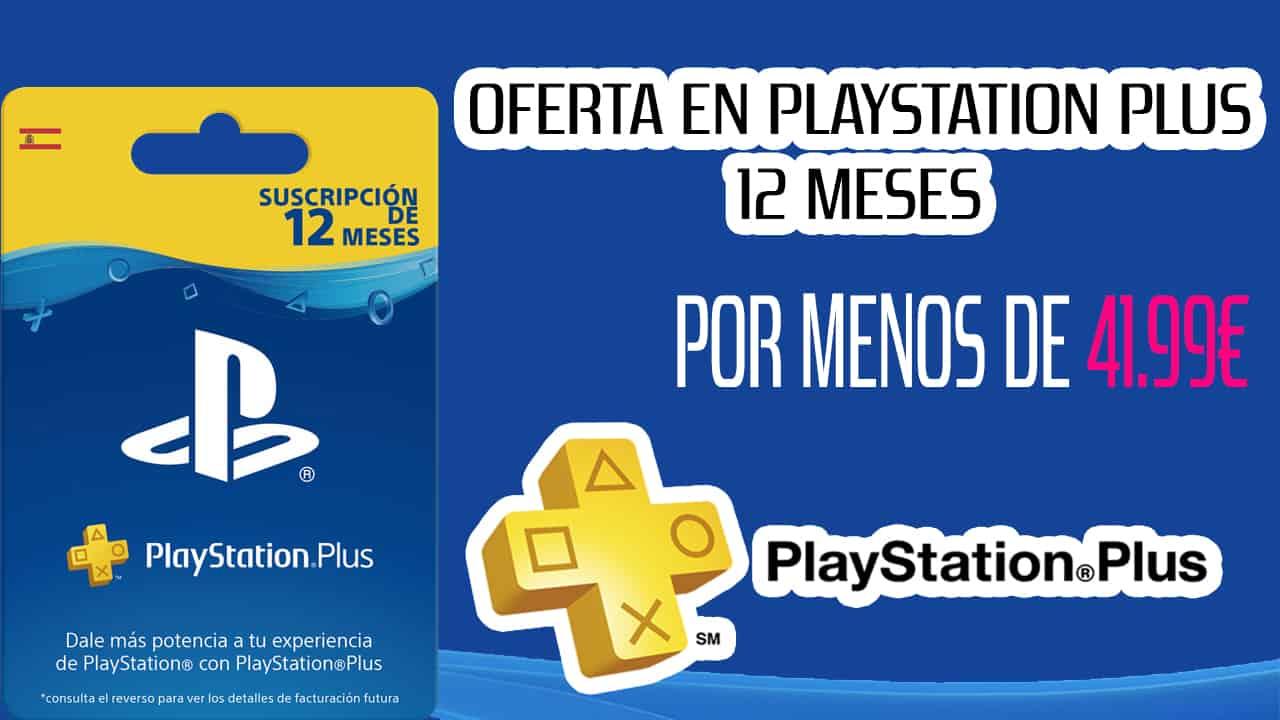 Oferta en PS Plus 12 meses España por menos de 41.99€