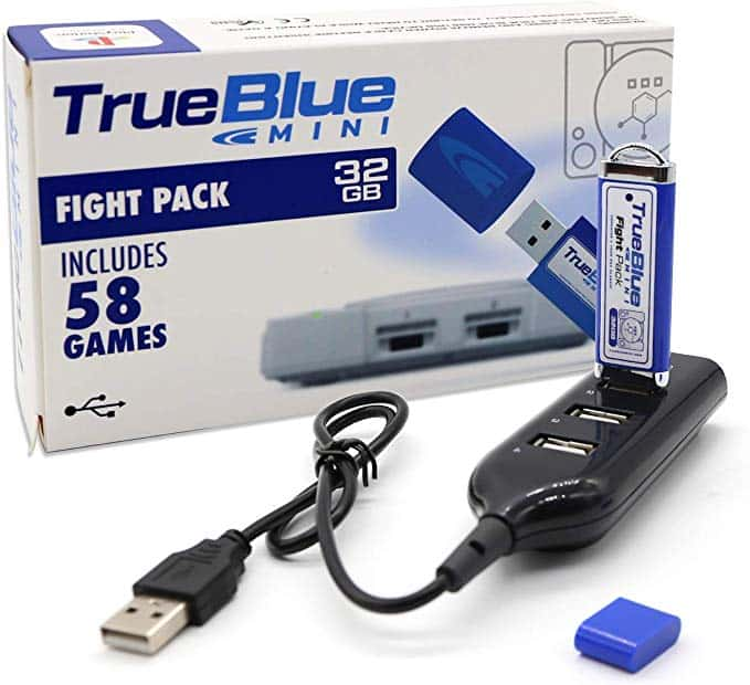 True Blue Mini Fight Pack 32G 58 Juegos para Playstation Classic