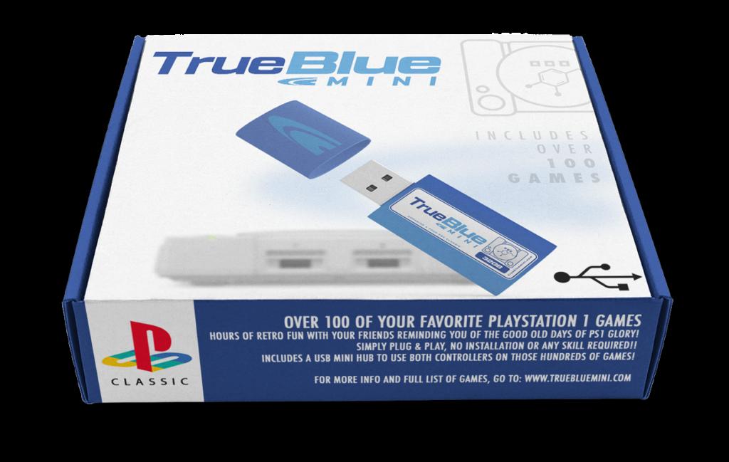 true blue mini para playstation classic