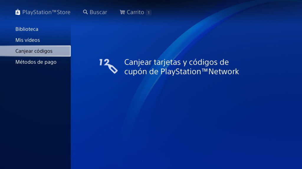 PS Store canjear cupon de playstaiton plus