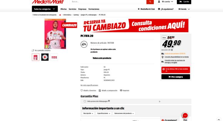 Cambiazo Fifa 20 ps4