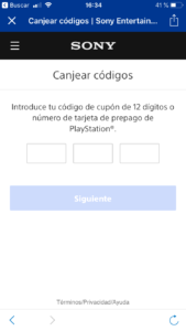 paso 4 canjear playstation plus oferta desde playstation App