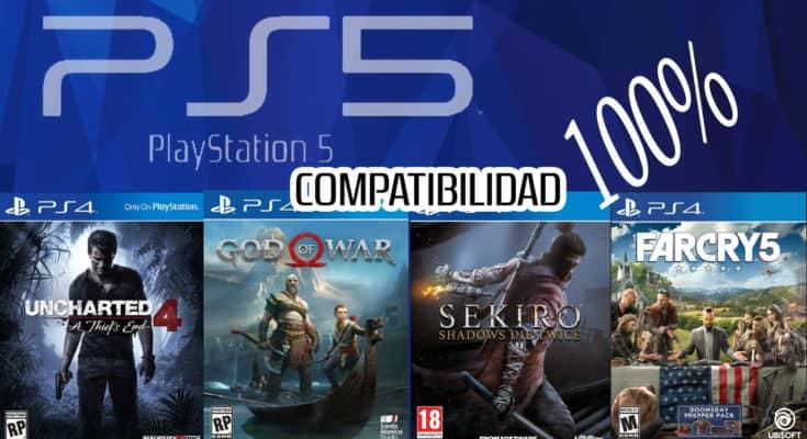 PS5 compatibilidad 100 POR 100 con ps4