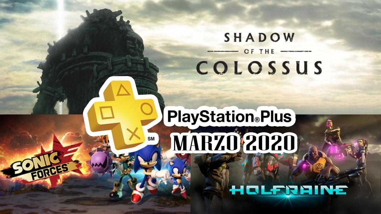 PlayStation Plus Marzo 2020