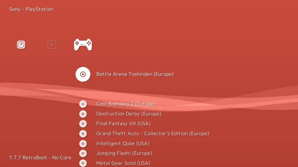 RetroArch en Autobleem Interfaz de juegos para Playstation Classic