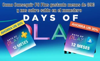 days of play ps plus y ps now por menos de 39€