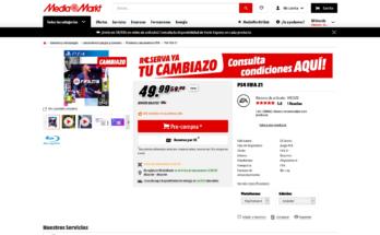 Cambiazo Media Markt Fifa 21