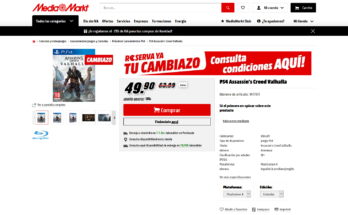 Cambiazo Media Markt PS4 Assassin's Creed Valhalla